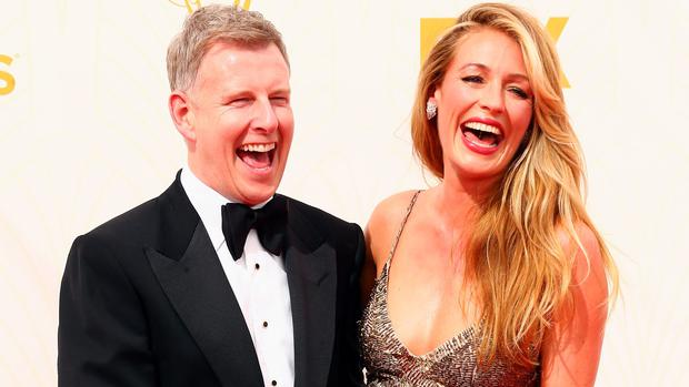 Patrick Kielty and Cat Deeley at the Emmys