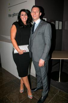 Sarah and Darren Daly at the All Ireland Celebration Banquet in The Gibson Hotel
