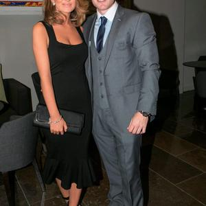 Tammy Lynch and Davey Byrne at the All Ireland Celebration Banquet in The Gibson Hotel