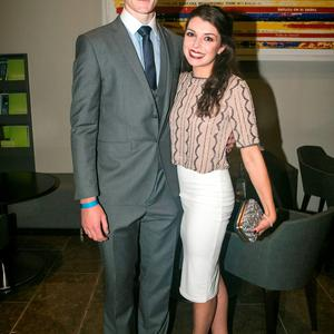 Brian Fenton and Sarah Kelliher at the All Ireland Celebration Banquet in The Gibson Hotel