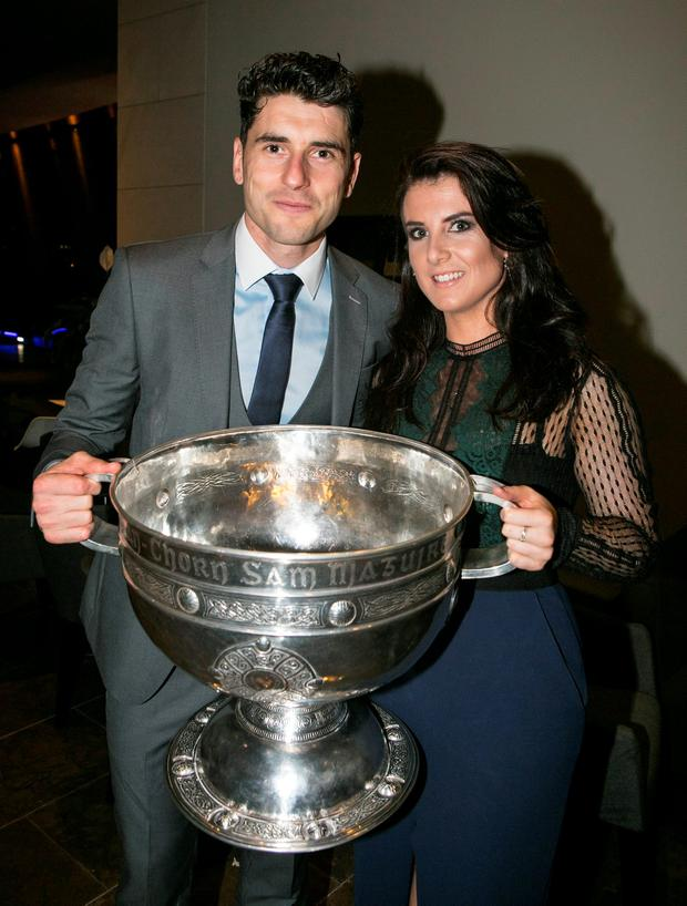 Bernard Brogan and Kiera Doyle at the All Ireland Celebration Banquet in The Gibson Hotel