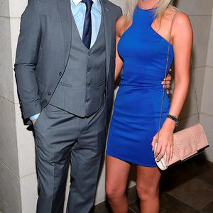 Dublin Player David Byrne and Jen Collins at the Gibson Hotel All Ireland Post Match Banquet at the Gibson Hotel ,Dublin Picture Brian mcEvoy No Repro fee for one use