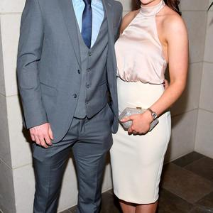 Dublin Player Conor McHugh and Lorna Mulvihill at the Gibson Hotel All Ireland Post Match Banquet at the Gibson Hotel ,Dublin Picture Brian mcEvoy No Repro fee for one use