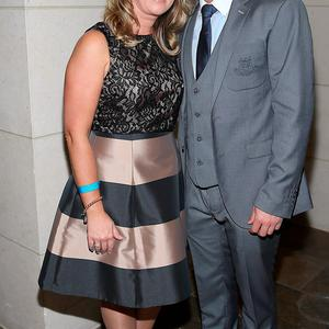 Jason Sherlock and Louise Sherlock at the Gibson Hotel All Ireland Post Match Banquet at the Gibson Hotel ,Dublin Picture Brian mcEvoy No Repro fee for one use