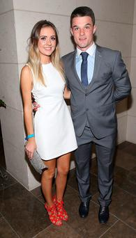 Eric Lowndes and Caroline Glynn at the Gibson Hotel All Ireland Post Match Banquet at the Gibson Hotel ,Dublin Picture Brian mcEvoy No Repro fee for one use