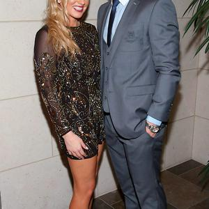 Dublin player Paul Flynn and Fiona Hudson at the Gibson Hotel All Ireland Post Match Banquet at the Gibson Hotel ,Dublin Picture Brian mcEvoy No Repro fee for one use