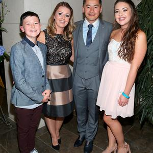 Dublin Player Jason Sherlock and wife Louise with children Joshua and Caoimhe at the Gibson Hotel All Ireland Post Match Banquet at the Gibson Hotel ,Dublin Picture Brian mcEvoy No Repro fee for one use