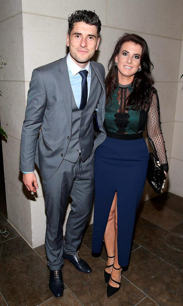 Dublin player Bernard Brogan and Kiera Doyle at the Gibson Hotel All Ireland Post Match Banquet at the Gibson Hotel ,Dublin Picture Brian mcEvoy No Repro fee for one use