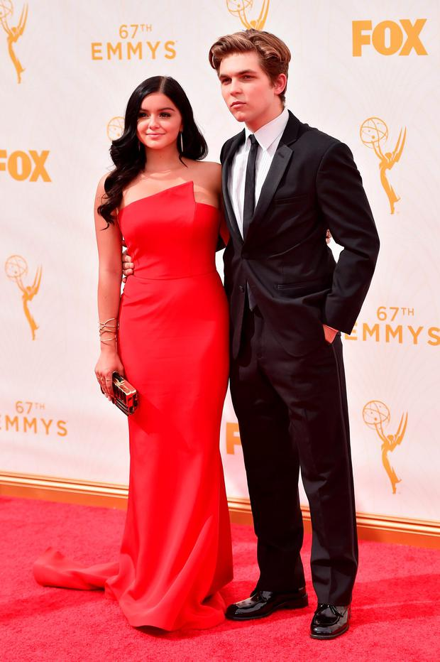 Actress Ariel Winter (L) and Laurent Claude Gaudette attend the 67th Emmy Awards at Microsoft Theater on September 20, 2015 in Los Angeles, California. 25720_001 (Photo by Alberto E. Rodriguez/Getty Images for TNT LA)
