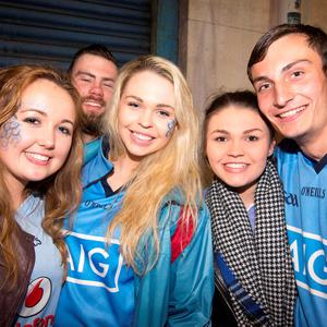 Hannah Murphy, Ciara and Aisling Morris and Alex Walsh, at The Sackville Place Bar.