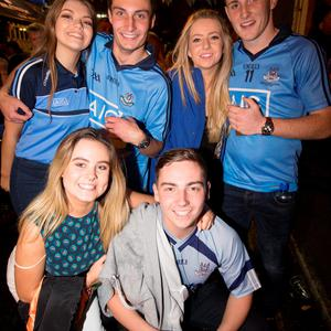 Front; Nicole Kelly, Chris Woods, Back Lori Higgins, Alex Walsh, Ciara Finn and Mark Maguire at The Sackville Place Bar.
