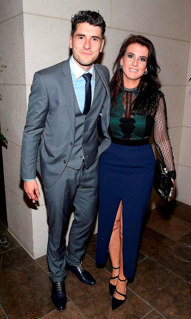 Dublin player Bernard Brogan and Kiera Doyle at the Gibson Hotel All Ireland Post Match Banquet