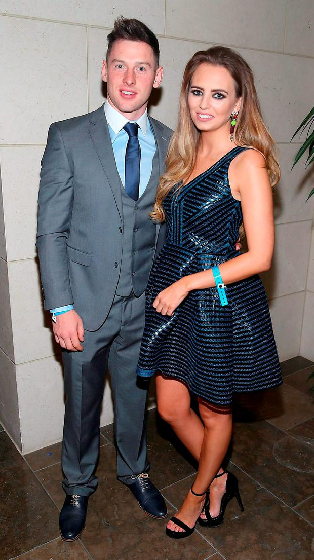 Dublin player Philly McMahon and Sarah Lacey at the Gibson Hotel All Ireland Post Match Banquet