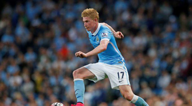 Manchester City's Kevin De Bruyne in action