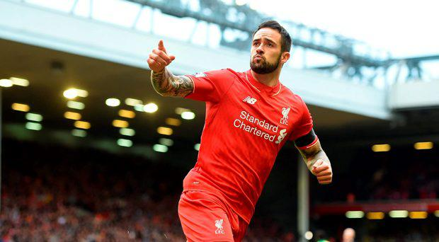 Liverpool's Danny Ings celebrates scoring his side's first goal of the game