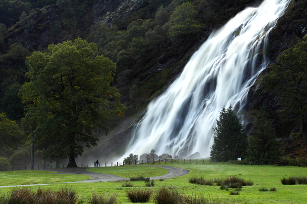 Powerscourt Waterfall is the highest waterfall in Ireland at 121m (398ft.). It sits at the foothills of the Wicklow Mountains in a park containing beech, oak, larch and pine trees, some of which were planted over 200 years ago. Photo: Trish Punch/trishpunch.com