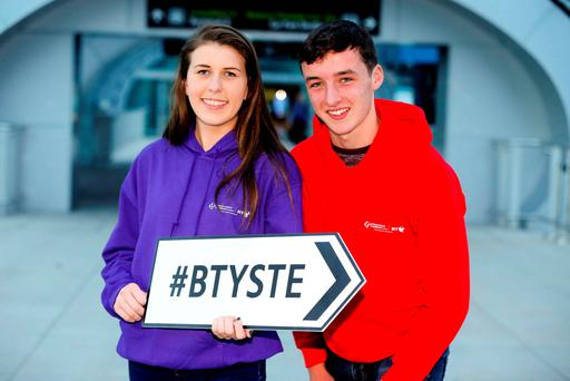 Ian O'Sullivan and Eimear Murphy from Colaiste Treasa Kanturk Co.Cork PIC: MAXWELLS