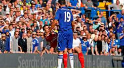 Chelsea's Diego Costa clashes with Arsenal's Laurent Koscielny Action Images via Reuters / John Sibley