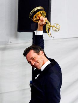 Actor Jon Hamm, winner of Outstanding Lead Actor in a Drama Series for