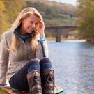 Dubarry's 'Bracken' jacket in 'Shale' (€435) and 'Galway' boots (€350).