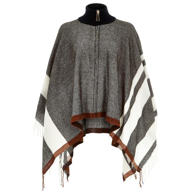 Zipped-neck poncho (€47, River Island)