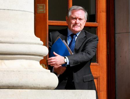 Minister for Public Expenditure and Reform Brendan Howlin at Government Buildings in Dublin. Photo: Frank McGrath