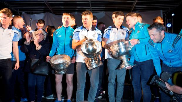 The Dublin GAA Football Team Celebrations at O'Connell St last night.