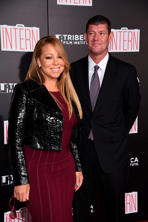 Mariah Carey and James Packer attend