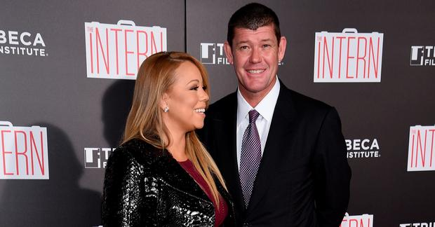 Mariah Carey and fiancee James Packer. Photo by Dimitrios Kambouris/Getty Images)