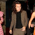 (L to R) Alexa Chung, Harry Styles and Suki Waterhouse