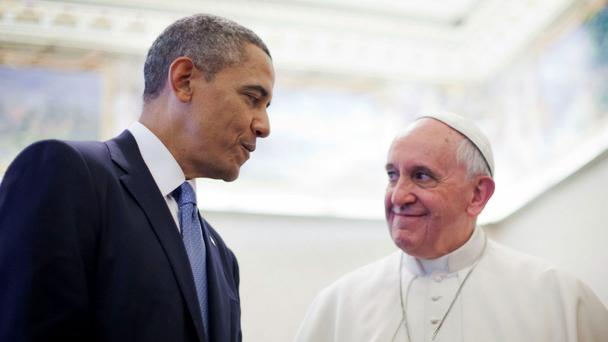 US President Barack Obama and Pope Francis
