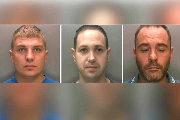 Grant Walker, Wayne Marsh and Andrew Warley were jailed for 26 years Credit: West Midlands Police
