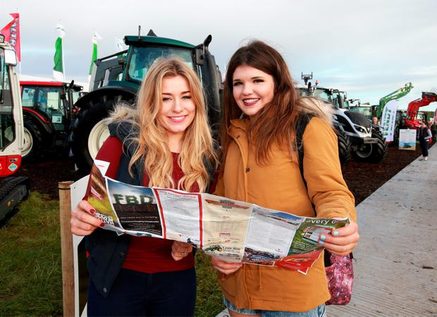 Alannn Moran and Grainne Doyle both from Longford pictured at the National Ploughing Championships in Rathaniska Co Laois