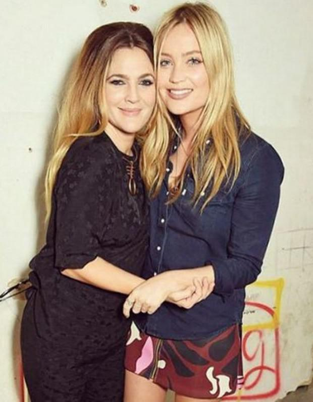 Laura Whitmore and Drew Barrymore