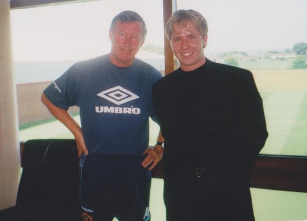 Alex Ferguson with Kevin Palmer in 1996