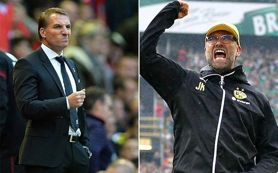 Brendan Rodgers and Jurgen Klopp