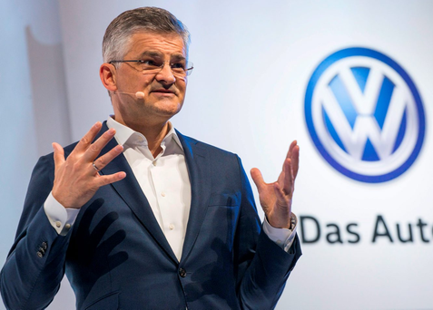 Michael Horn, president of Volkswagen America, where the scandal first broke