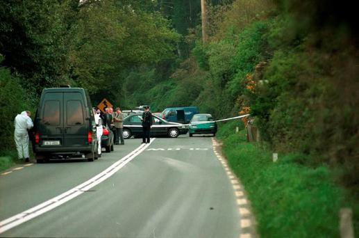 The scene of the attempted armed robbery at the Cullenmore Bends, near Ashford, Co Wicklow