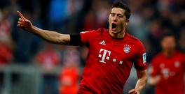 Poland hotshot Robert Lewandowski served a Euro 2016 warning to Ireland with a stunning, record-breaking five-goal burst in the space of nine minutes for Bayern Munich last night