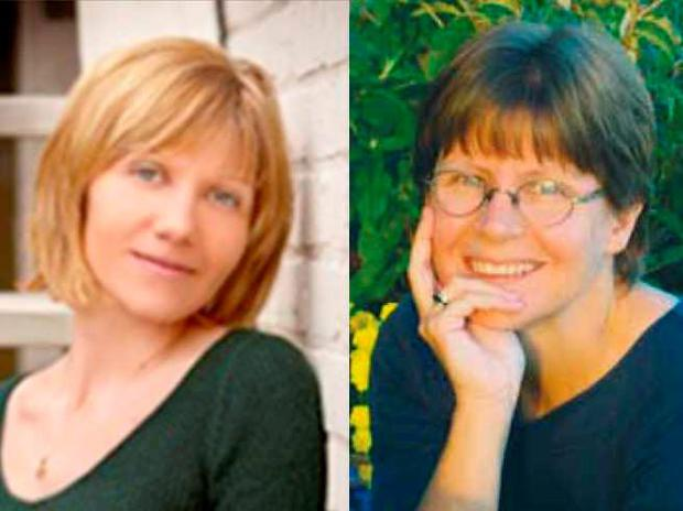Anastasia Kuzyk (L) and Nathalie Warmerdam have been identified as two of three women killed at different sites around Wilno