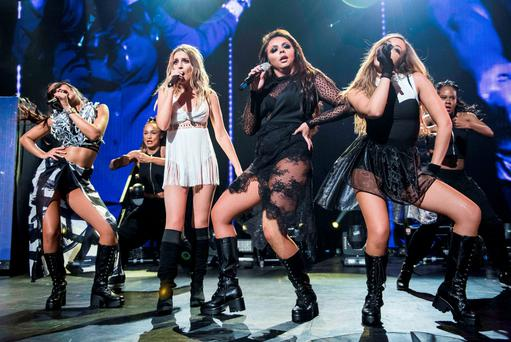 Little Mix performing at the Apple Music festival at the Roundhouse in Camden, London. PRESS ASSOCIATION Photo. Picture date: Tuesday September 22, 2015. Photo credit should read: PA Wire