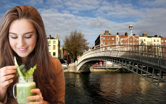 Roz Purcell in Dublin (composite).