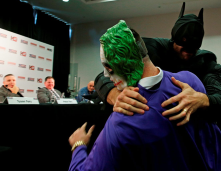 Tyson Fury tangles with The Joker
