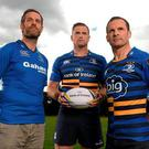 Jamie Heaslip (centre) from Leinster Rugby is one of the judges on the panel