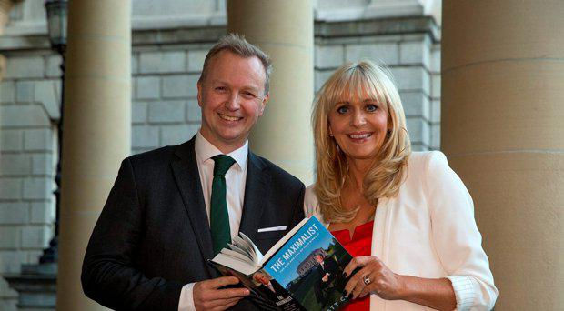 Matt Cooper with Miriam O'Callaghan at the launch of his new book The Maximalist at the National Library in Dublin