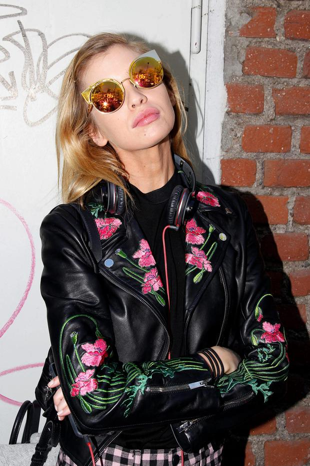Stella Maxwell is seen during Milan Fashion Week Spring/Summer 2016 on September 24, in Milan, Italy. (Photo by Robino Salvatore/GC Images)