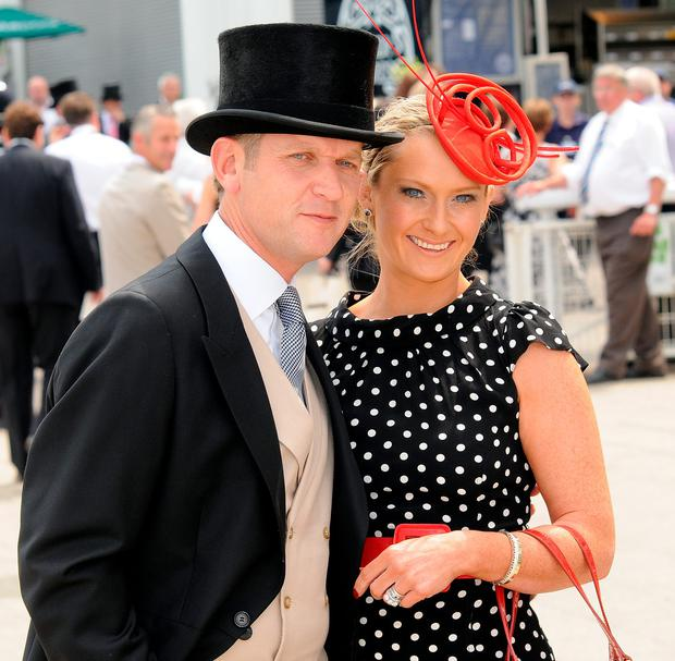Jeremy Kyle and Carla Kyle attend Derby Day, the second day of the Epsom Derby on June 5, 2010 in Epsom, England. (Photo by Stuart Wilson/Getty Images)