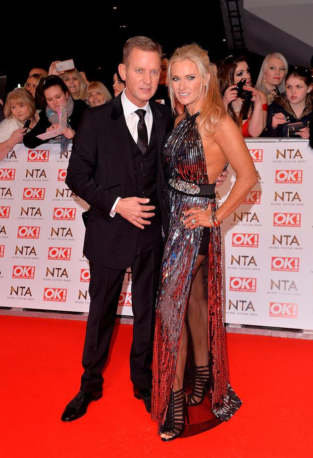 Jeremy Kyle and Carla Germaine attend the National Television Awards at 02 Arena on January 21, 2015 in London, England. (Photo by Anthony Harvey/Getty Images)