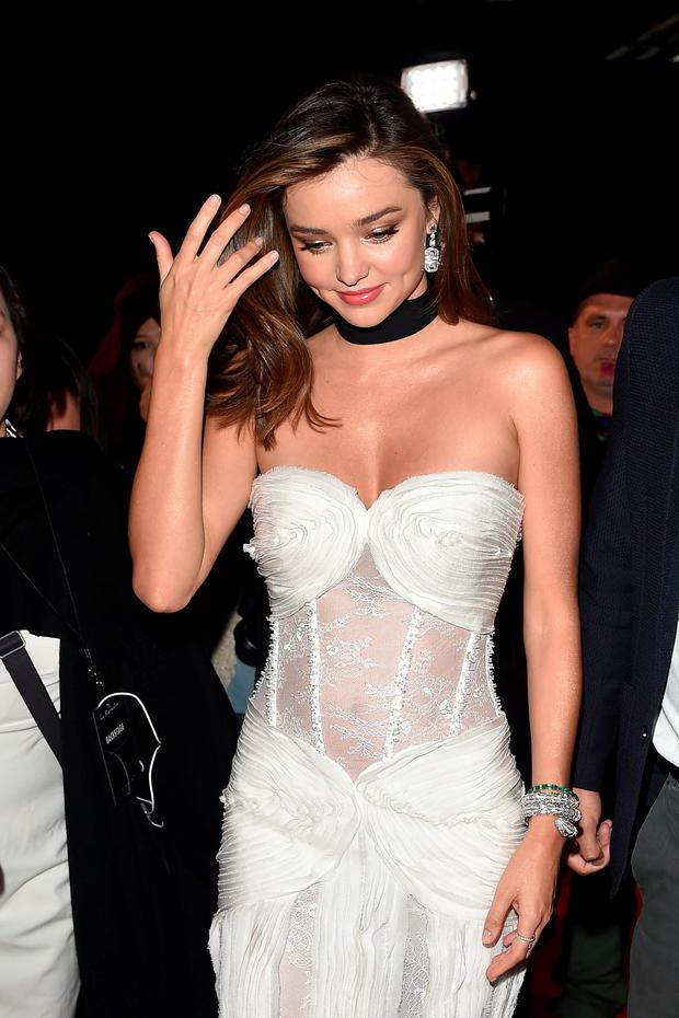Miranda Kerr attends the La Koriador show during the Milan Fashion Week Spring/Summer 2016 on September 24, 2015 in Milan, Italy. (Photo by Jacopo Raule/Getty Images)