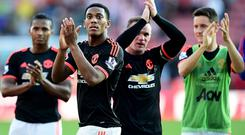 Hard graft: Only one team have run further than United so far this season
